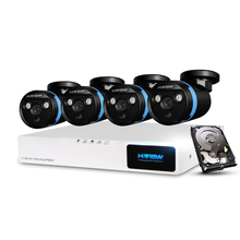 H.View Security Camera System 8ch CCTV System 4 x 1080P CCTV Camera Surveillance System Kit Camaras Seguridad Home 1TB HDD(China)