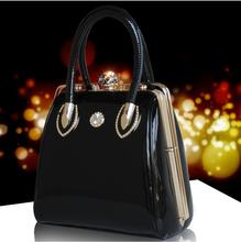 2017  Fashion Skull Diamonds Women Bag Europe and the United States brand designer sequin handbags upscale patent leather bags