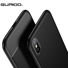 GURIOO For Apple iphone X Case Perfect Luxury Carbon Fiber Skin Soft TPU Case Durable Good Hand Feeling Phone Cover For iphone X(China)