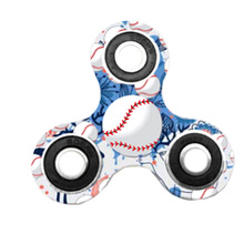 Buy 2017 New Arrival Baseball Series fingertip gyro baseball printed spinner hand ABS ball bearing control for $2.65 in AliExpress store