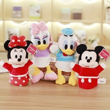 1pcs New arrival Hot sale Mickey & Minnie Mouse ;Donald &Daisy Duck Stuffed Animals Plush Hand toy doll Toys For Children's Gift(China)