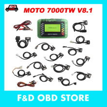 2017 High quality Motorcycle Scanner MOTO 7000TW V8.1 Universal Motorbike Scan Tool with Multi Languages Fast DHL Free Shipping