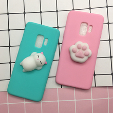 Buy Phone Case Samsung Galaxy S9 3D Cute Soft Silicone Squishy Cat Fundas Samsung Galaxy S9 plus Cover Sleeping Kitty Coque for $1.39 in AliExpress store