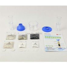 NEW  science toy green technology DIY clean water science kit ,Water Purification Experiment kid's educational toy