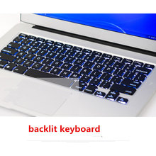 13.3 Inch Core i3 Aluminium Notebook Computer Backlit Keyboard 8G DDR3 128G SSD 1920*1080 HD Screen Windows 7 Win 10 Slim laptop