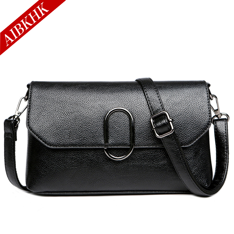 AIBKHK Women Shoulder Bag Split Leather Ladies Crossbody Messenger Bags Travel Bolsas Mother Bags Women Handbags<br>
