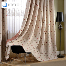 Floral print curtains endless curtains bedroom finished window curtain living room W100XH250CM drapes insulated blackout curtain