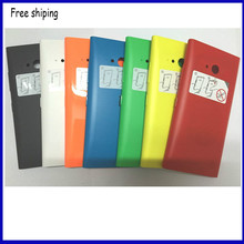 Original New Mobile Phone Case Protective Shell For Nokia Lumia 730 735 Housing Back Case Battery Cover door +Side bottons(China)