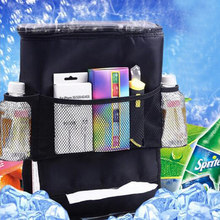 2017 hottest selling Auto Car Back Seat Boot Organizer Trash Net Holder Multi Pocket Travel Storage Hanger for Auto Capacity Sto(China)