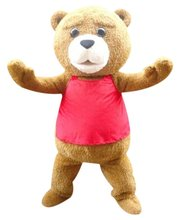 2015 100% positive feedback seller hot sale teddy costume adult fur teddy bear mascot costume