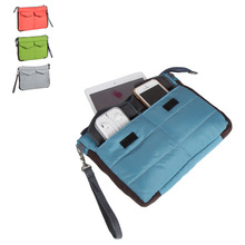 Multifunction Portable Travel Storage Bag Digital Data Cable Organizer Case Storage Bag Thicken HandBag For iPad Tablet