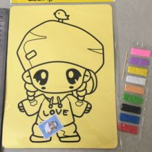 1pcs 27x21cm Sand Painting Drawing Toys Sand Art Kids Coloring DIY Crafts Learning Education Color Sand Art Painting Cards 023