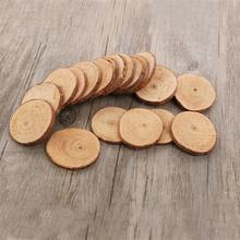 20pcs 5-6CM Wood Log Slices Discs Cutout Circle Round Large Wood Disks Crafts Paint Decor Wooden For Wedding DIY Decoration(China)