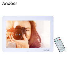 "Andoer 14"" LED Digital Picture Frame Wide Screen Digital Photo Frame w/ Remote Control LED Clock Calendar MP3 MP4 Movie Player"