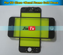 5Pcs/lot Glass With Bezel Frame For iPhone 5G LCD Digitizer Display Touch Screen Lens Refurbish Accessories