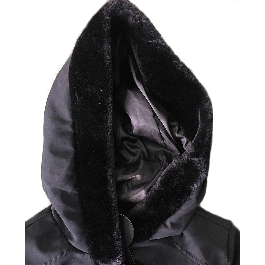 معطف الشتاء الدافئ مع حزام على الخصر 4