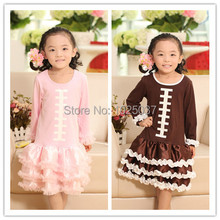 Girls American Football Sport Top Dress With Ruffles Pink Brown  Ruffle Dresses Kids Basketball Clothes