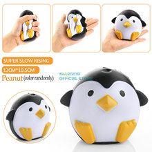 2017 New Arrival Jumbo Squishy Penguin Kawaii Cute Animal Slow Rising Sweet Scented Vent Charms Bread Cake Kid Toy Doll Gift Fun(China)