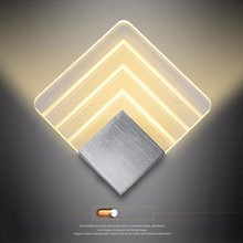 110 220v Acrylic Led Wall Lamp Aluminum Wall Light Lamps Luminarias Wall Lights For Home Stair Light Led Bathroom Applique 12