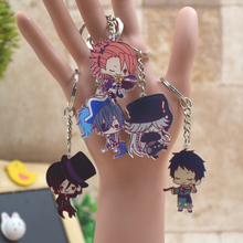 Black Butler acrylic Keychain Action Figure Pendant Car Key Chain Key Accessories Japanese Cartoon Key Ring HZS002 LTX1