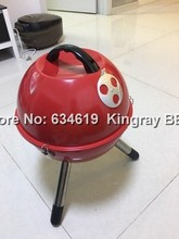 Mini round vehicle outdoor portable charcoal bbq grill hot sale camping picnic charcoal grill for sale(China)