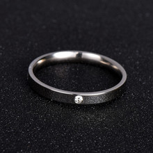 Fashion Jewelry Zirconia Classic Wedding Ring For women or man Eternity Love 316L Stainless Steel Rings Gift Never Fade nj201(China)