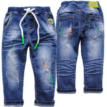 4041 0-4 years hole soft denim jeans pants baby jeans kids trousers boys casual pants children spring autumn hole jeans boy(China)