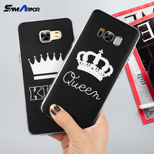 King Queen Case for Samsung Galaxy S5 S6 S7 Edge S8 Plus A3 A5 J1 J2 J3 J5 J7 2015 2016 2017 Note 8 Back Cover Luxury(China)