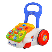 GOODWAY Multifunction Musical Baby Walker with Wheels Ride on Toys Safe Trolley Baby Toys Learn to Walk Eductional Toys for Kids(China)