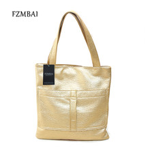 FZMBAI 2017 Simple Design Patent Leather Tote Bags Casual Mini Rectangular Single Shoulder Bags(China)