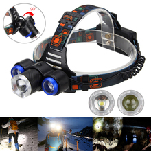 Front Bicycle Light Zoom 15000Lm 3x XML T6 LED High Power Bike Headlamp +2x18650+Charger