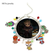 Guardians of the Galaxy 2 movie Anime baby groot new fashion bracelet in Chain & Link Bracelets Women mens top funny Gift(China)