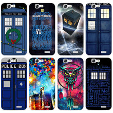 G413 Bad Wolf Doctor Telephone Transparent Hard Thin Skin Case Cover For Huawei P 6 7 8 9 10 Lite Plus Honor 6 7 8 4C 4X G7