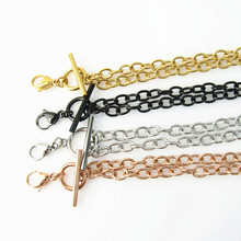 Hot sell 18'' (45cm) Silver/Rose gold/Gold 316L Stainless Steel Toggle Chain Floating Locket Pendant Necklace(China)
