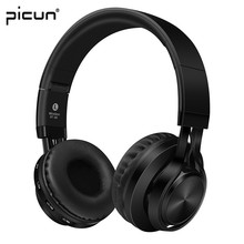 Picun BT-06 Bluetooth Headphones Wireless Stereo Headsets Foldable with Mic Support TF Card FM Radio for iPhone Samsung Xiaomi