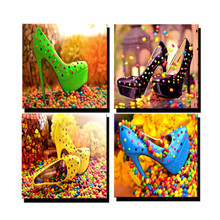 Rushed Real Candy Shoes 3d Diy Diamond Painting Kits Square Mosaic Rhinestone Pattern diamond Embroidery Cross Stitch Needlework