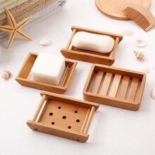 Jabonera portátil creativo simple bambú manual de drenaje caja de jabón  baño Baño estilo ... 0afb214feb52