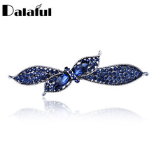 Unique Crystal Floral Bowknot Headwear Hair clip Barrette Hairpin Accessories Jewelry For Woman Girls Wedding F121(China)