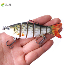 HENGJIA 1PCS 10cm 19g Fishing Wobblers 6 Segments Swimbait Crankbait Fishing Lure Bait with Artificial Hooks(China)