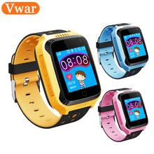 Vwar 1.44 INCH Touch Screen GPS Tracker Watch GW500S With Camera Flashlight for Kids SOS Anti Lost GSM Smart Phone Setracker APP(China)