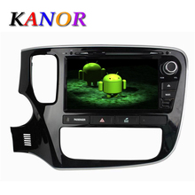 KANOR Quad Core Android 5.11 For MITSUBISHI OUTLANDER 2014 2015 Car DVD Player Capacitive GPS Autoradio Audio Stereo Cassette(China)