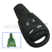 Smart key 433 mhz 4 button for SAAB 93 9-3 2003 2004 2005 2006 2007 2008 2009 2010 2011 car key ID46 - PCF7946 remtekey(China)