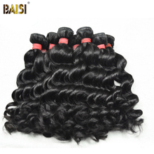 "Baisi hair products: indian virgin hair extensions, human hair weave more wave 10pcs/lot 8""-30"""