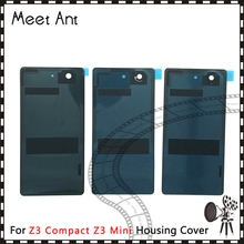 10pcs/lot high quality Sony Xperia Z3 Compact Z3 Mini D5803 D5833 Back Housing Battery Cover Door Rear Cover