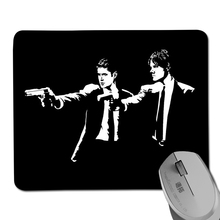 New arrival supernatural pulp fiction winchester brothers printed pattern gaming mouse pad / notebook mouse pad