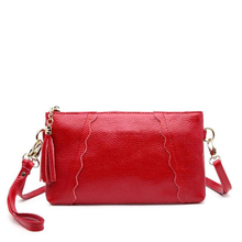 2017 Latest Fashion Woman Bag Clutch Promotional Ladies Luxury Genuine Leather Handbags Small Women Messenger Bags Crossbody Bag