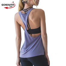 Women's Workout Tank Tops Perfect Yoga top For Female Quick Dry Running Tee Fitness Apparel Sports vest G-353(China)