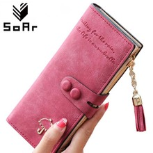 SoAr Wallet Women's purse long clutch luxury brand famous coin female handbags tassel  leather wallets women fashion design 5
