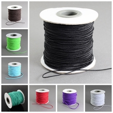 1mm; 100m/roll HOT Elastic Hair Jewelry Accessories Making Cord Nylon Rubber White Black Craft DIY Design Material String Strand(China)