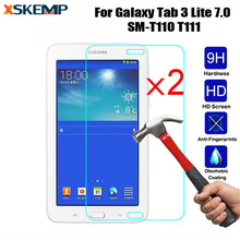 2Pcs Tempered Glass Film For Samsung Galaxy Tab 3 Lite 7.0 SM-T110/T111 Tablet PC Screen Protector 2.5D Ace Edge 9H Ultra-thin
